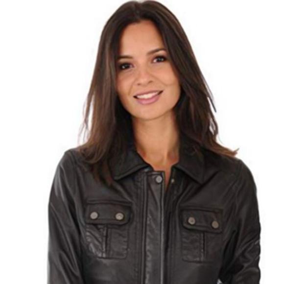 78e9f53b524 Jackets & Coats   Sheepskin Leather Womens Bomber Biker Jacket ...
